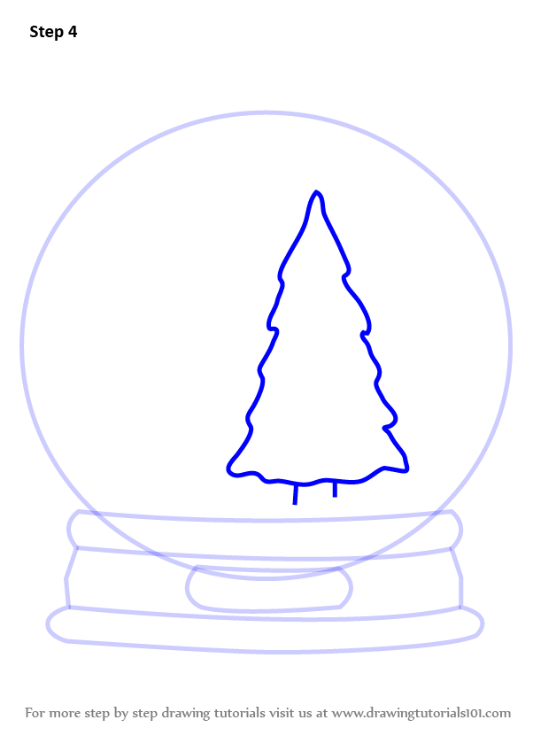 how to draw christmas lights step by step