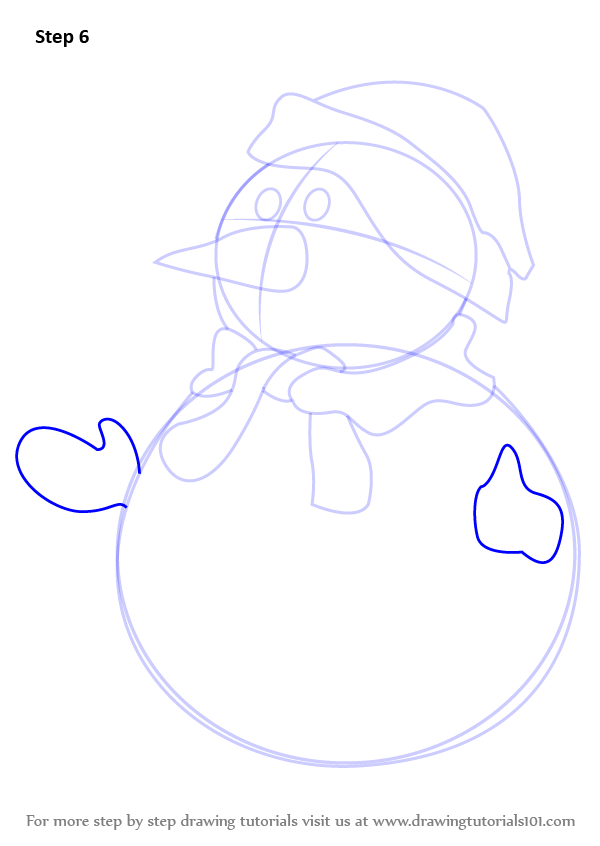 Learn How To Draw Snowman Christmas Step By Step