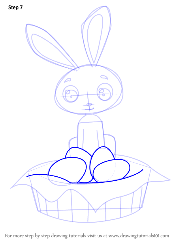 Learn How To Draw An Easter Bunny Easter Step By Step Drawing