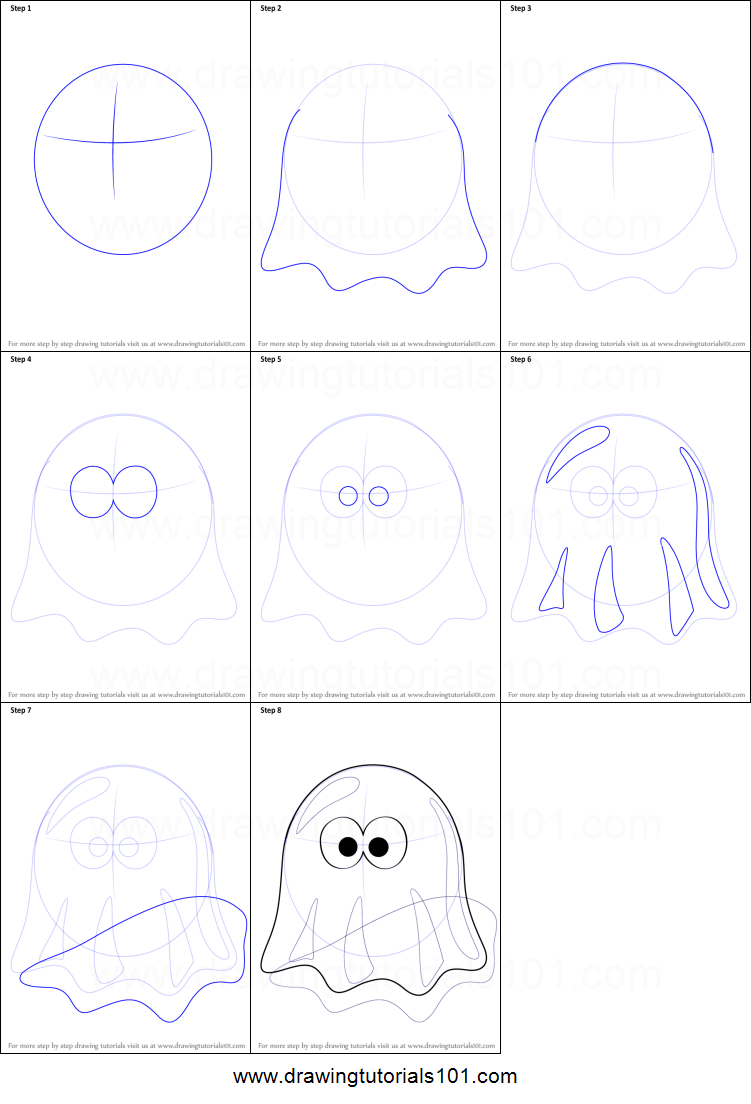 Uncategorized How To Draw A Ghost Step By Step how to draw a ghost cartoon printable step by drawing sheet drawingtutorials101 com