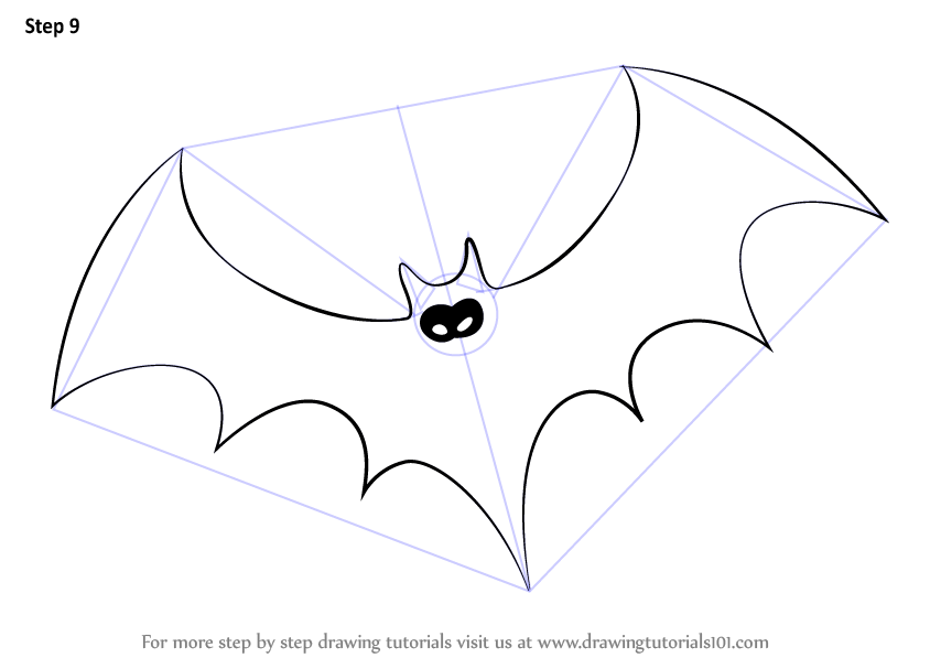 make necessary improvements to complete the drawing - Halloween Bat Pics