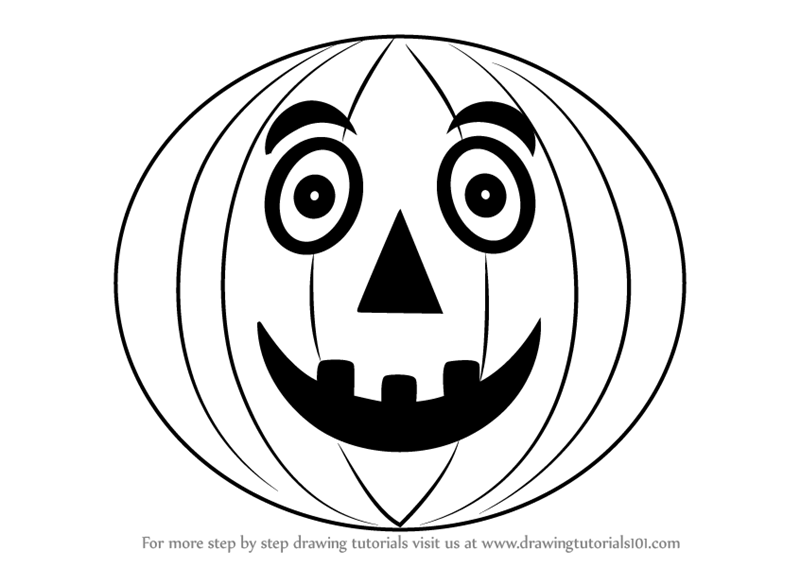 how to draw halloween pumpkin for kids - Halloween Pictures To Draw