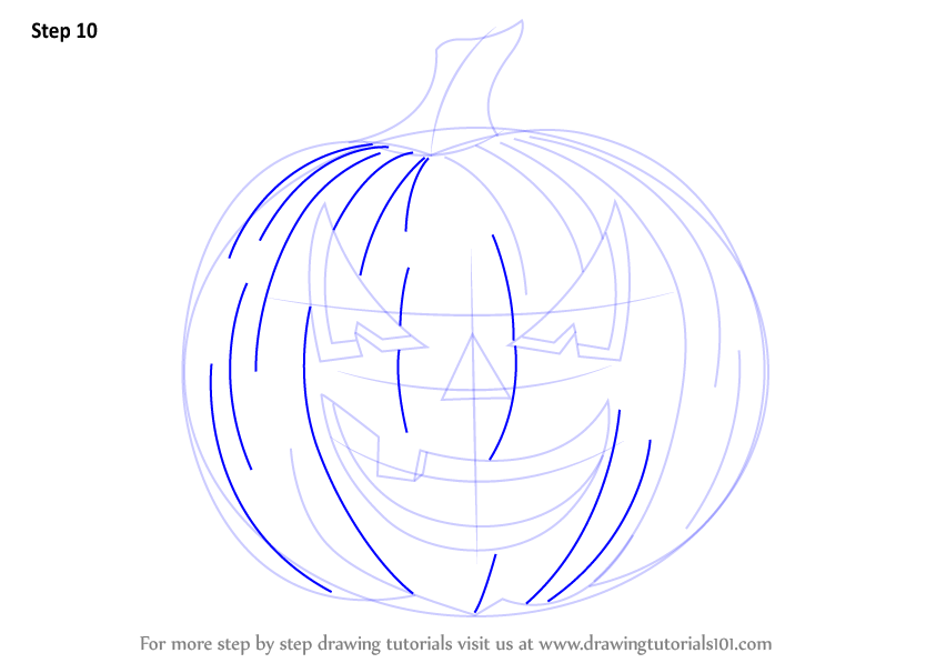 how to draw halloween stuff step by step