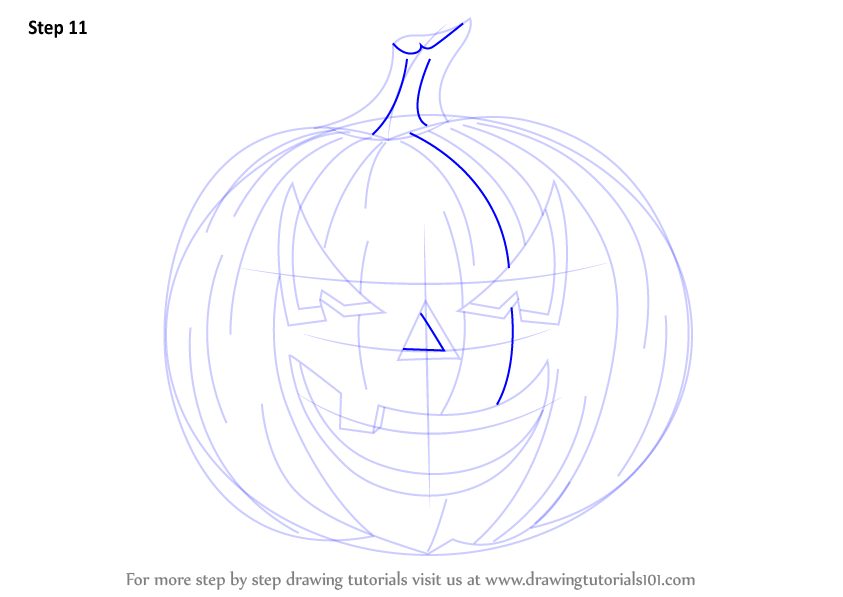 how to draw a halloween ghost step by step