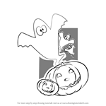 How to Draw Scary Halloween Pumpkin