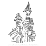 How to Draw a Spooky Haunted House