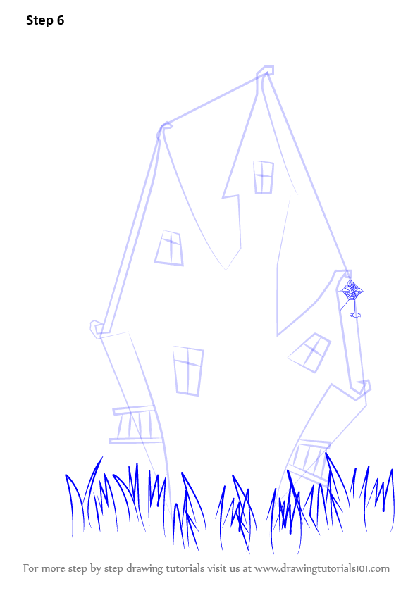 Step By Step How To Draw A Witch S House