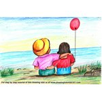 How to Draw Valentine Couple with Balloon