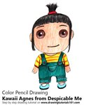 How to Draw Kawaii Agnes from Despicable Me