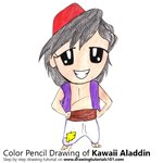 How to Draw Kawaii Aladdin