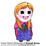 How to Draw Kawaii Anna from Frozen