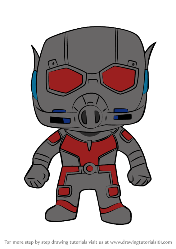 Learn How to Draw Kawaii Ant Man (Kawaii Characters) Step ...