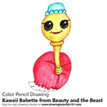 How to Draw Kawaii Babette from Beauty and the Beast