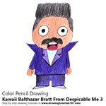 How to Draw Kawaii Balthazar Bratt From Despicable me 3