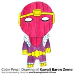 How to Draw Kawaii Baron Zemo