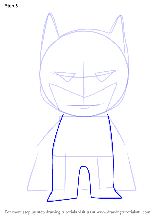 how to draw lego batman characters step by step