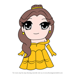 How to Draw Kawaii Belle from Beauty and the Beast