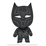 How to Draw Kawaii Black Panther