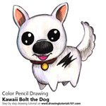 How to Draw Kawaii Bolt the Dog