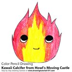 How to Draw Kawaii Calcifer from Howl's Moving Castle