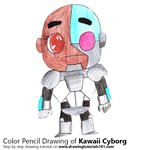 How to Draw Kawaii Cyborg