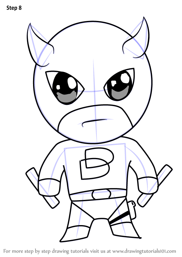 Learn How to Draw Kawaii Daredevil