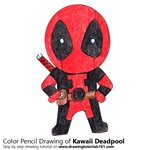 How to Draw Kawaii Deadpool