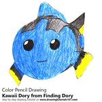 How to Draw Kawaii Dory from Finding Dory