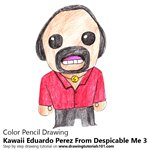 How to Draw Kawaii Eduardo Perez From Despicable me 3