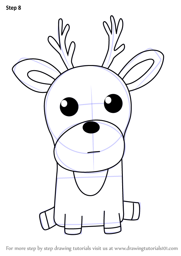 how to draw a fawn step by step