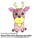 How to Draw Kawaii Fawn from Gnomeo and Juliet