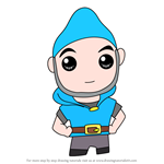 How to Draw Kawaii Gnomeo From Gnomeo and Juliet