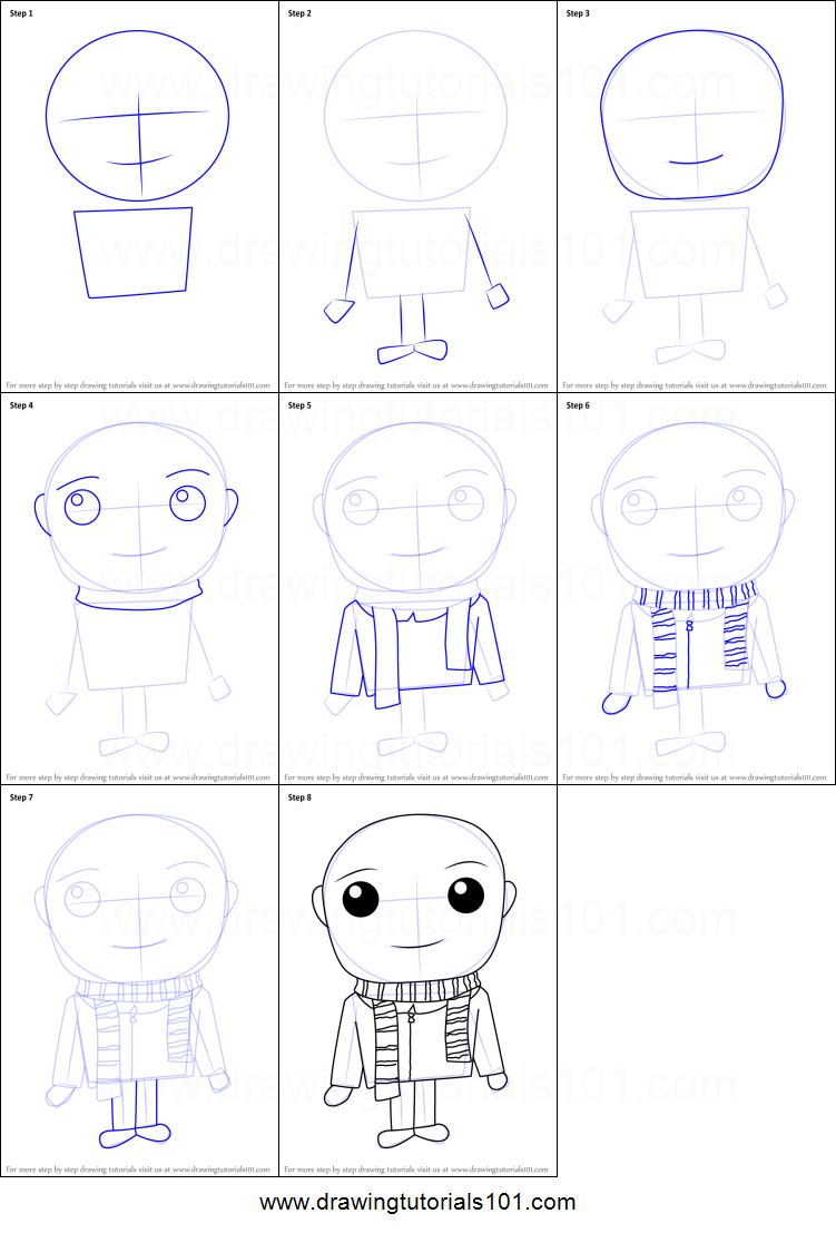How to draw gru from despicable me printable step by step drawing how to draw kawaii gru from despicable me printable step by step drawing sheet drawingtutorials com thecheapjerseys Choice Image