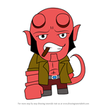 How to Draw Kawaii Hellboy