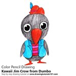 How to Draw Kawaii Jim Crow from Dumbo