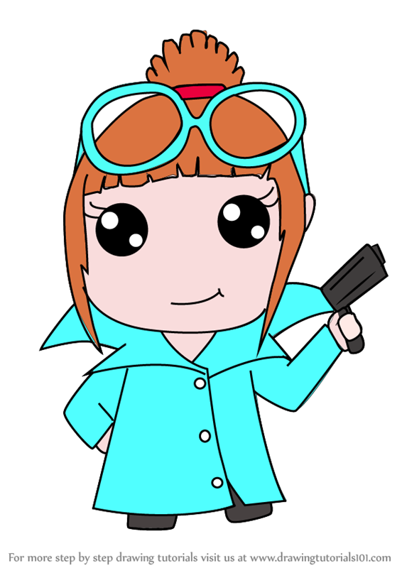 learn how to draw kawaii lucy wilde from despicable me kawaii rh drawingtutorials101 com despicable me clip art for 4th of july despicable me characters clipart