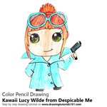 How to Draw Kawaii Lucy Wilde from Despicable Me