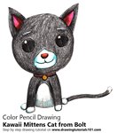 How to Draw Kawaii Mittens Cat from Bolt
