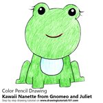 How to Draw Kawaii Nanette from Gnomeo and Juliet