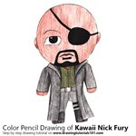 How to Draw Kawaii Nick Fury