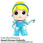 How to Draw Kawaii Princess Cinderella