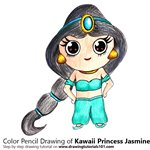 How to Draw Kawaii Princess Jasmine