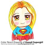 How to Draw Kawaii Supergirl