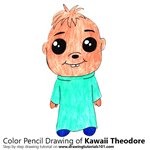 How to Draw Kawaii Theodore from Alvin and the Chipmunks