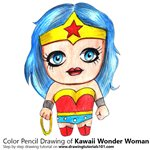 How to Draw Kawaii Wonder Woman