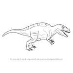 How to Draw an Acrocanthosaurus