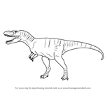 How to Draw an Albertosaurus