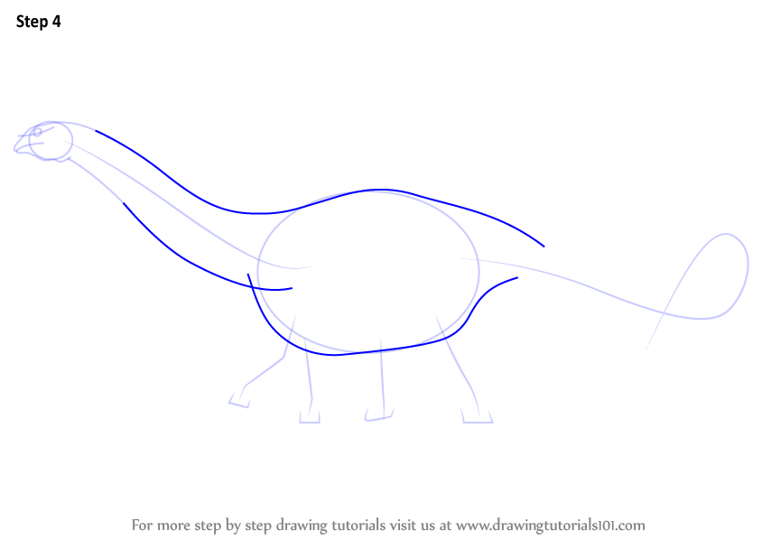 how to draw a spinosaurus step by step