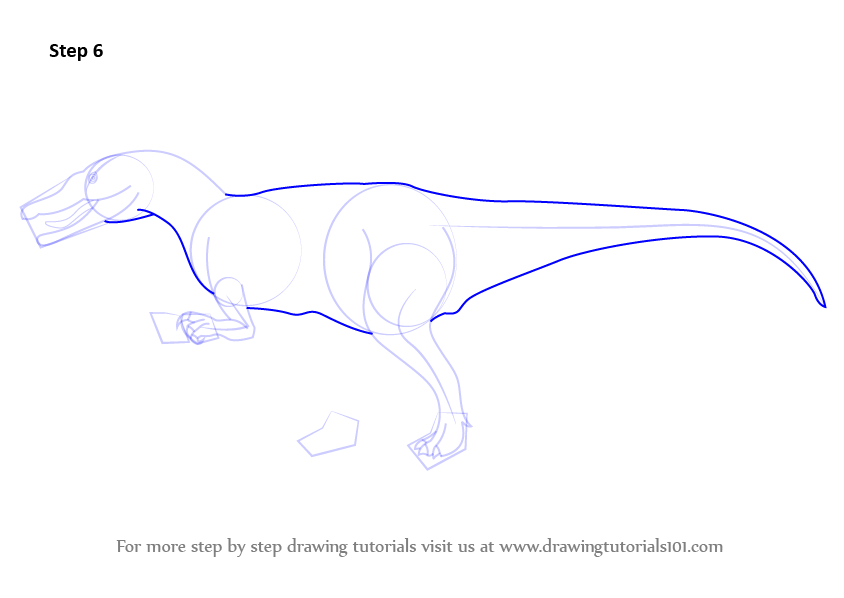 how to draw realistic dinosaurs step by step