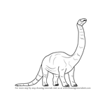 How to Draw a Brontosaurus Dinosaur